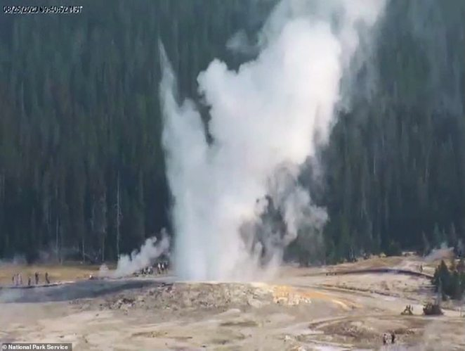 Yellowstone is home to around 500 geysers, according to the park website - the highest-concentration of geysers on Earth