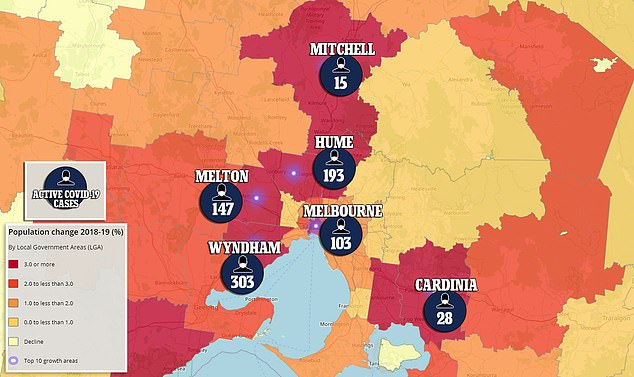 Australia's COVID-19 hot spots are in outer suburbs which had the strongest national population growth before the pandemic. Melbourne was home to five of Australia's ten fastest local government areas as of June 2019 - seven months before the first national case of coronavirus was confirmed