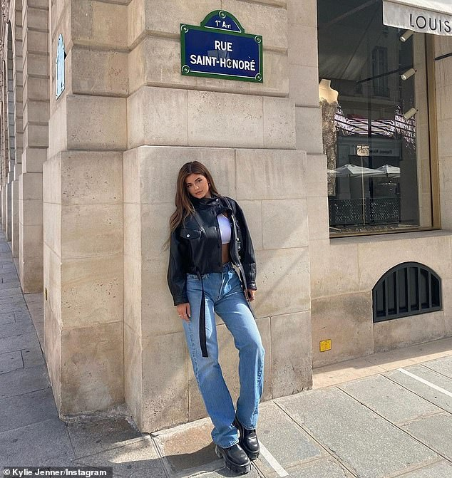 Paris vacation: She was spotted throughout the City of Lights, where she traveled for in-person business meetings with executive of Coty Cosmetics, which bought a majority stake in Kylie Cosmetics
