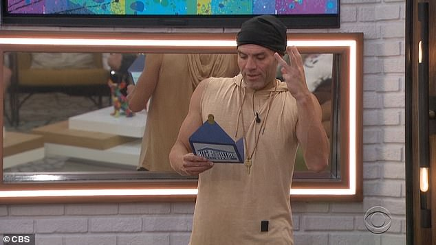 Just three:He reads from a card that the have-nots get to choose this week's have-nots, and there are only three this week