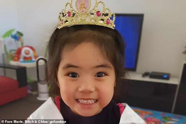 Three-year-old Caitlin Cruz (pictured), who became 'floppy and blue' and was rushed to a Sydney hospital was originally refused a bed by two separate nurses, an inquest has heard