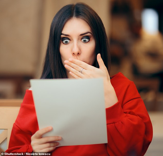 Uh-oh! The Instagram account that shared the note posted an unfortunate update: 'Twist: Person who received this note tested positive for an STD' (stock image)