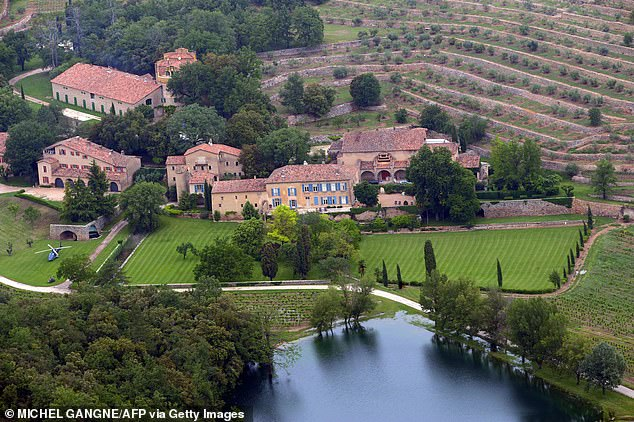 Burn! Much ado was made of how the Ad Astra action star jetted Poturalski to his French home Château Miraval on August 23, which would've marked his sixth wedding anniversary to Angelina Jolie had they not split (2008 stock shot)