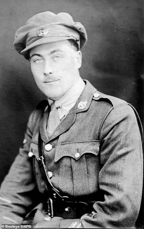 Captain Reginald Shaw MBE (pictured) took the photographs while serving as an instructor in the British Tank Corps between 1919 and 1920 when they joined the South Russia expedition