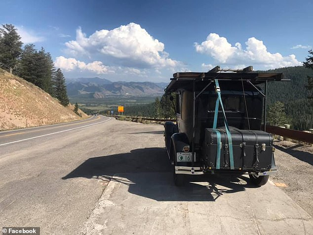 The 30-year-old motor enthusiast from New Hampshire started on Route 66 in Illinois on August 13 and ended in California on August 22