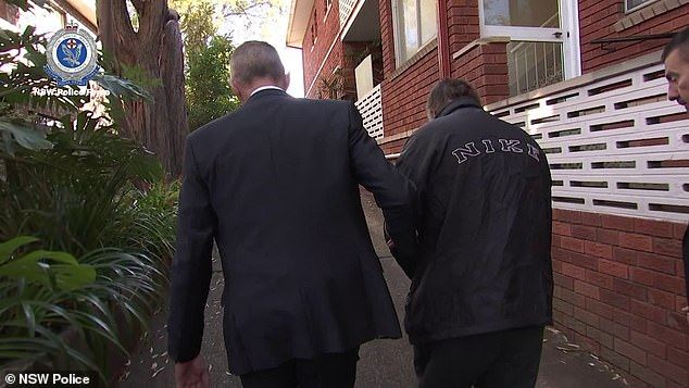 White was arrested in May (pictured) and NSW Police Commissioner Mick Fuller phoned Steve to update him on the case