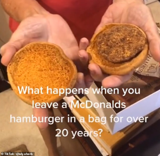 McMillions of years old! An American woman has held onto a hamburger and fries from McDonald's for 25 years — and they still look good as new