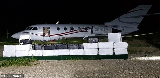 Mexico's Secretary of National Defense confiscated $65 million worth of cocaine after its military fighter jets intercepted a plane in Mexican airspace on Friday