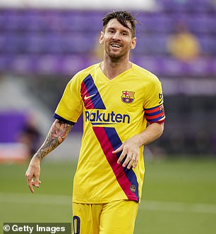 Lionel Messi in fifth place making $104million