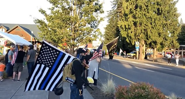 According to users online, Sandy Backs the Blue holds Flag Wave events every Monday to show support for local law enforcement.