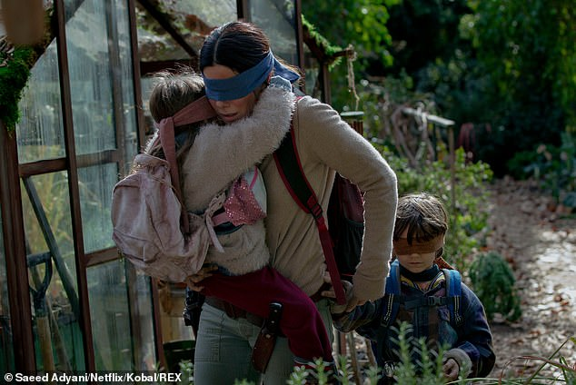 Viewers can watch the entirety of select films including Netflix originals like Bird Box, Murder Mystery, and The Two Popes. The above image shows a scene from the 2018 film Bird Box