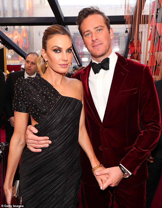 Time for a change: Hammer and Elizabeth Chambers announced they were separating last July.  They were photographed in Hollywood in 2018