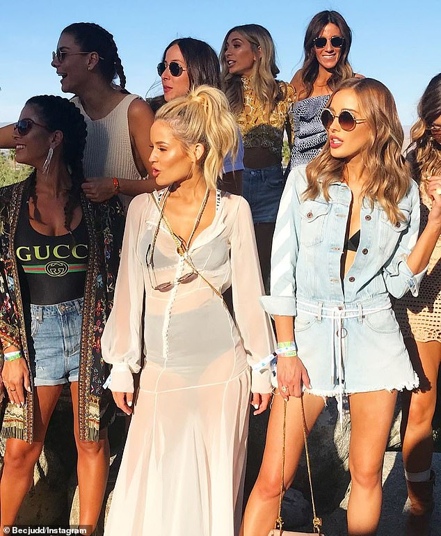 'I am my own person': Back in 2016, Jessie was rumoured to be locked in a battle with Rebecca over her unofficial title of Melbourne's Queen of the WAGS. However, Jessie insisted she is not rushing to claim the mother-of-four's crown.