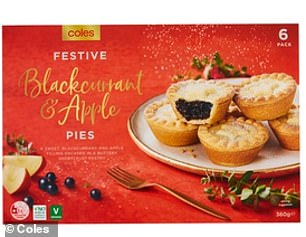 New additions include mince pies stuffed with blackcurrant and apple