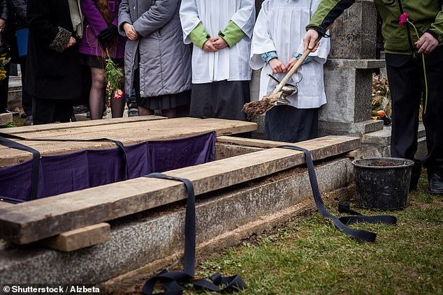 Along with airing people's dirty laundry, Mr Edgar spends most of his time purging his dead clients' homes of embarrassing items to spare their families the discomfort (stock image of a funeral)