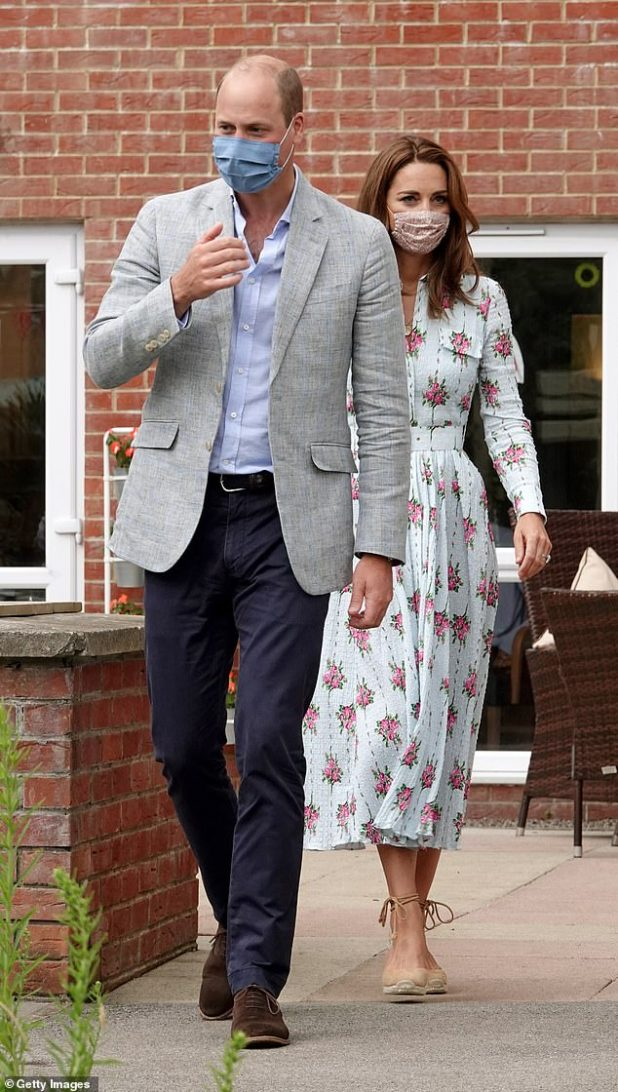 Prince William and Kate Middleton, pictured on 5 August, have taken their children to Balmoral