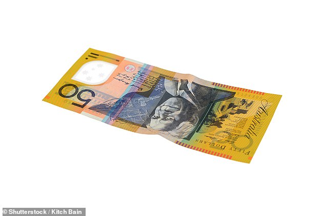 The cancer sufferer refused to accept offers of any extra money or help (Australian $50 note pictured above)