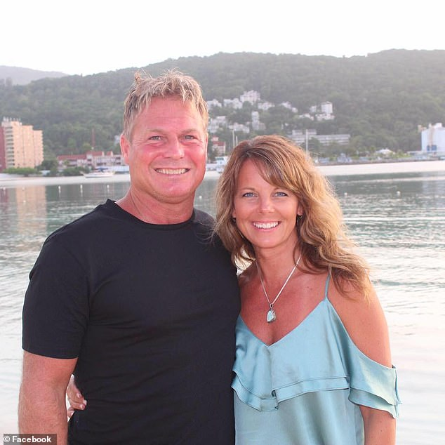 Barry Morphew, the husband of missing Colorado mom Suzanne Morphew (pictured together) spent the night before she was reported missing in a budget hotel room inBroomfield, Colorado that smelled strongly of chlorine