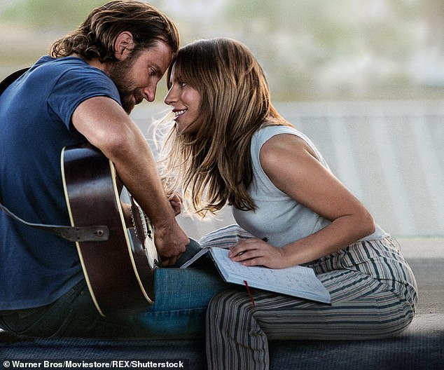 Only on the big screen: Lady Gaga denied rumors she was romancing Cooper following an intimate performance of their song Shallow
