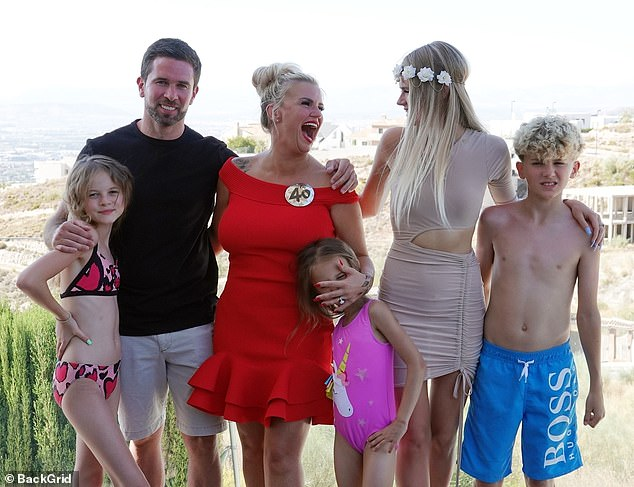Big family: The former Atomic Kitten star, who will celebrate her 40th birthday on Sunday, is already mother to five children from previous relationships