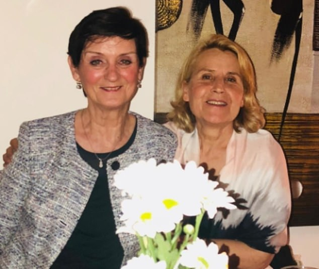 Mrs Uyar said she feels like she's 'trapped in a horror movie'. Her mother's condition in intensive care in Muğla is so dire she 'cries blood' due to her body's inability to clot. Pictured: Ms Fleming with her son-in-law's mother Hilal