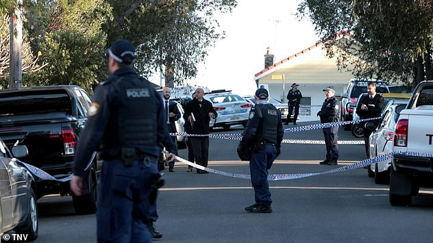Police cordon off the area before forensic officers arrive at Knoll Avenue in Turella after a shooting last week