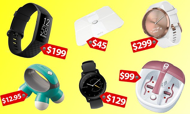 Fitness trackers, smart watches, scales, phone accessories and home massagers are among the latest JB Hi-Fi sale. Picture of a $199 Fitbit with GPS, $45 'smart' scale, $12.95 mini massager, $99 foot spa, $299 Garmin hybrid watch and $129 Withings Move activity tracker