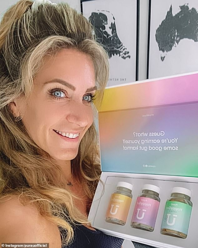 After four months, the business made $250,000. Pictured: Evelien Langeveld with the product