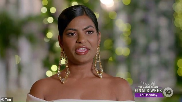 Going out with a bang: Locky Gilbert felt the wrath of Areeba Emmanuel (pictured) during Wednesday's episode of The Bachelor, after sending the feisty reality star packing