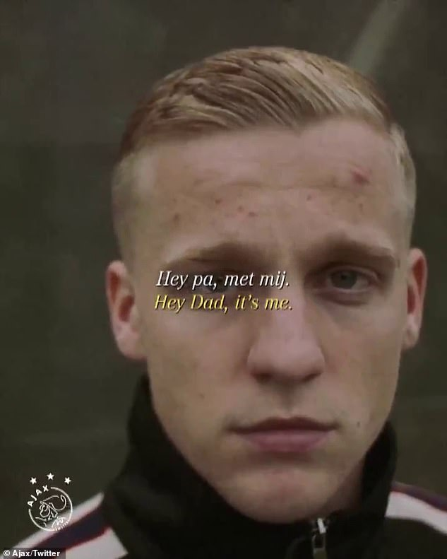 Ajax posted an emotional farewell to midfielder Donny van de Beek on Wednesday