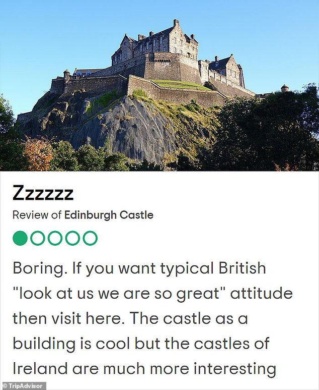 Edinburgh Castle is the ground for the famousMilitary Tattoo every year which is often attended by royals, but this reviewer thought it was 'boring'