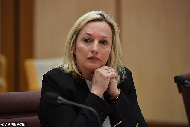 Australia Post CEO Christine Holgate appears before a Senate inquiry into changes at Australia Post at Parliament House in Canberra, Wednesday, July 8, 2020