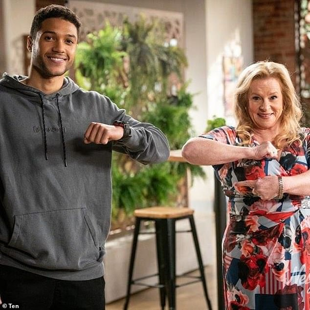 'I think in the free-to-air environment Neighbours could most certainly be at risk if the quotas [for Australian content] were to change,' Mr Oliver-Taylor said (Pictured are Neighbours stars Richie Morris and Colette Mann)