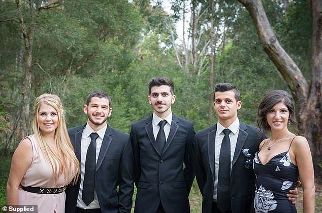 Pictured: Ben with his siblings and cousins. Left to right: cousin Dani, Ben's brother Noah, Ben, his brother Adam, and cousin Alicia
