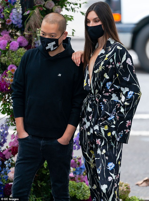 Mask on:With face coverings being the new norm many designers have found ways to incorporate the mandated protective shield into their lines. Jason has designed a line of masks that directly benefit the Gay Men's Health Crisis
