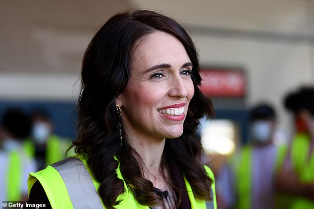 Ms Collins said 'arrogant' New Zealand Prime Minister Jacinda Ardern (pictured) has put herself in the 'unenviable position of having to defend every every single COVID cock up'