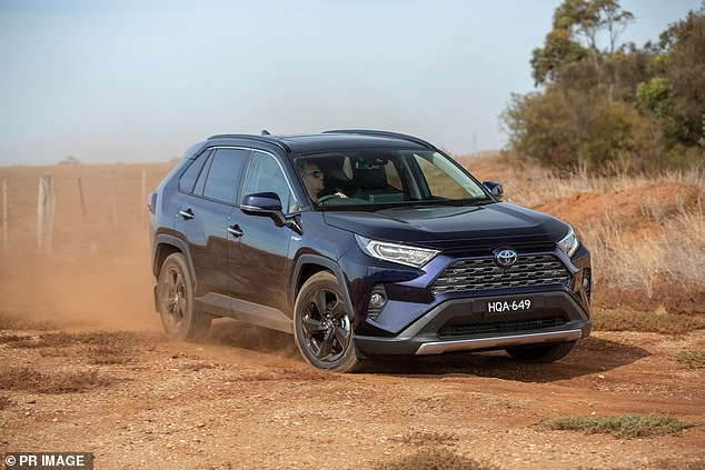 SUVs are defying the coronavirus recession with sales of the Toyota RAV4 surging by more than 140 per cent compared with a year ago.The RAV4 also has the only sub-$40,000 hybrid SUV available in Australia