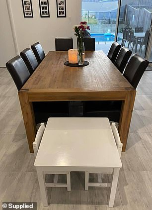 Mother-of-one Karly Meljak grew tired of the black leather dining chairs in the kitchen of her Port Macquarie home