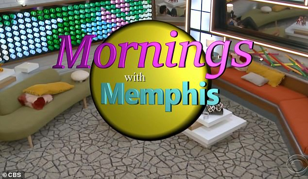 Morning show:They made up their own talk show, called 'Mornings with Memphis', on which they guessed what the current news headlines might be outside the house