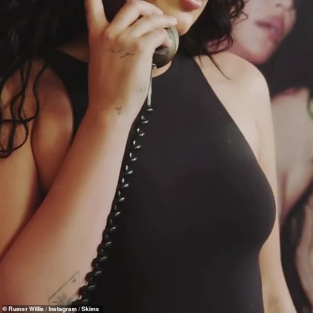 Chitchat:Rumer Willis transformed into a Kim Kardashian lookalike in her latest album of Instagram videos this Wednesday