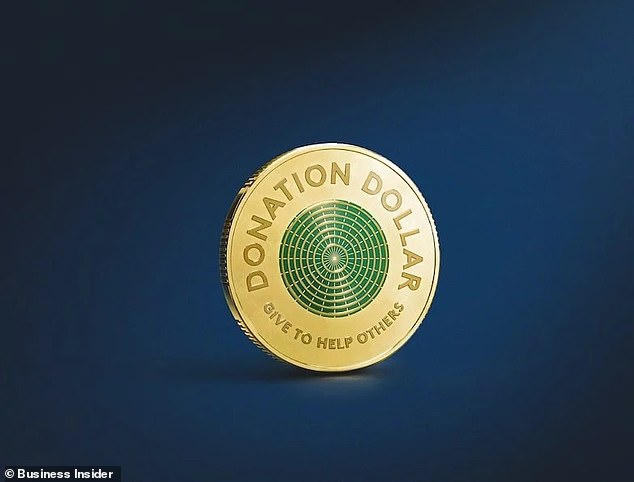 The Royal Australian Mint has coined the 'Donation Dollar', a green-centred version of the currency, in time for International Day of Charity on September 5