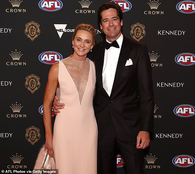 Gillion McLachlan and his family – along with 400 other AFL players, officials and family members have moved into the Mercure resort on the Gold Coast for two weeks of isolation prior to the Grand Final