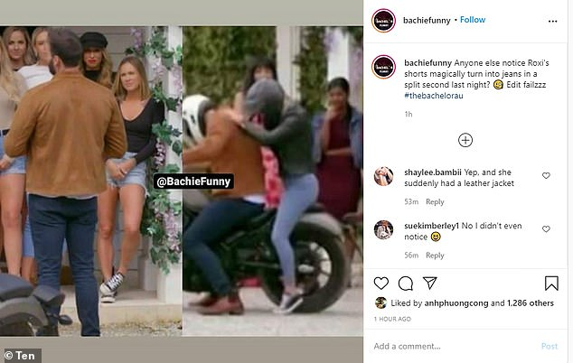Eagle-eyed fans: Viral Instagram meme page Bachelor Funny noticed the gaffe, pointing it out in a post on Thursday