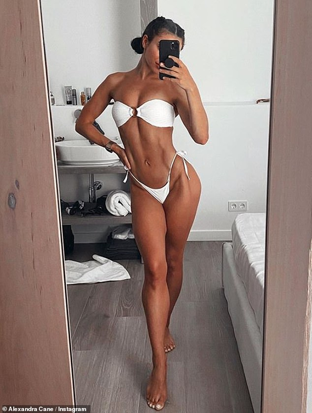 Not happy yet: Despite Alexandra littering her Instagram page with several stunning bikini and fitness snaps, the reality starlet recently revealed that she is still not happy with her figure