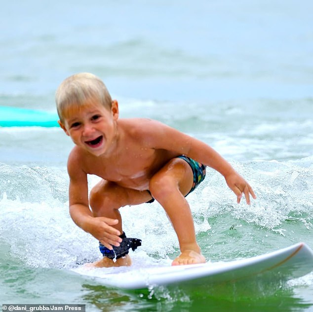 Four-year-oldJoao Vitor, from Guaruja, Brazil, has perfected the ability to ride the waves completely unaided and practices almost every day at the local beach