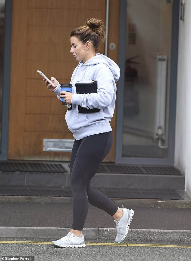 Determined:Her outing comes after she reportedly declared she 'won't be bullied' by Rebekah Vardy, 38, when their libel case goes to court