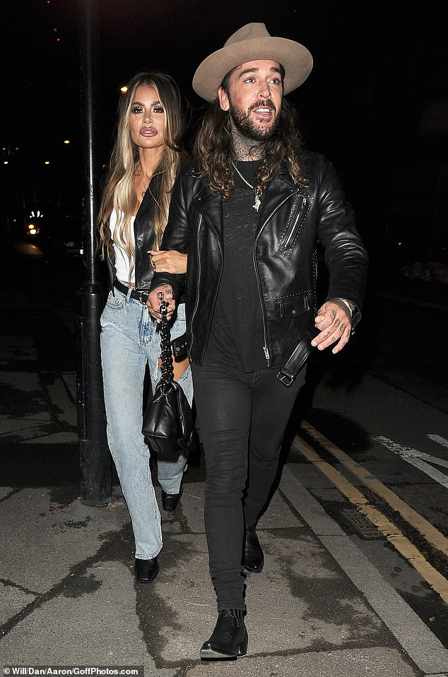 Night out: Chloe Sims and Pete Wicks made the most of their downtime from TOWIE as they enjoyed a fun night out at Nightjar cocktail bar in London's Old Street on Wednesday night