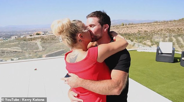 'Are you sure?' The singer uploaded a video of the health and nutrition expert, 31, getting down on one knee to pop the question