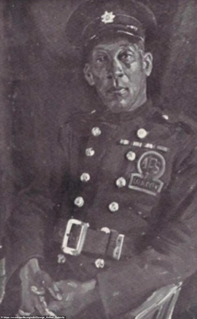 George (above) saw action at the Somme and Loos - where he was wounded at both - as well as in the Dardanelles. He initially trained as an electrician and settled in Britain after the war. As he was too old to fight in WWII, the 50-year-old volunteered for the London Fire Service when the German bombs started falling on London in September 1940. His tale and that of other black people who came over to Britain out of loyalty to the Empire, are revealed in Stephen Bourne's book Under Fire