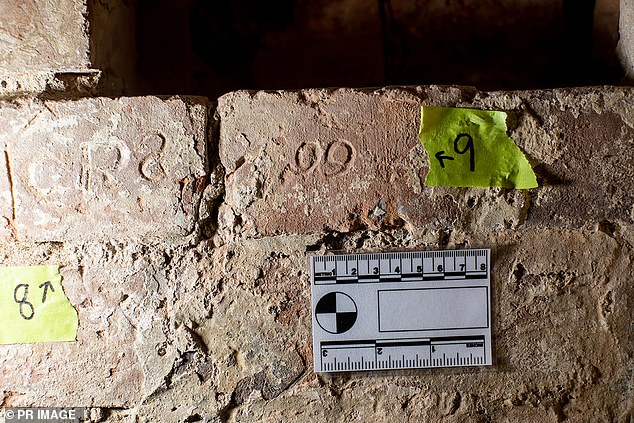 A building contractor tidying up brickwork at Anglesea Barracks near the city centre stumbled across the markings about a fortnight ago